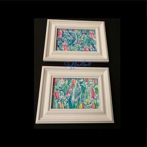 2 Lilly Pulitzer Sailboat Regatta Frame Prints 4x6